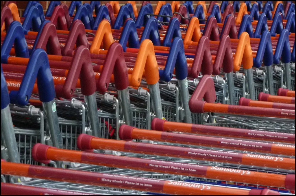 Sainsbury Trollies lined up - 366 Days Photography Project