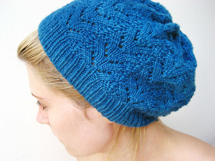 Free Knitting Pattern Lace Beanie : Nordic Lace Hat - Buttons and Beeswax