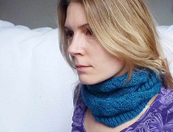 Nordic Lace Cowl Knitting Pattern