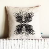 minimonos screen printed tree pillow - etsy favourite