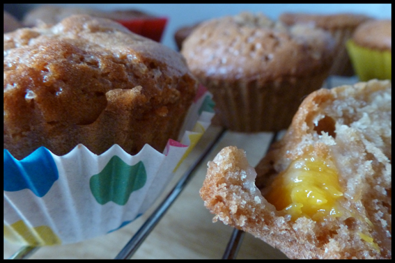 Peach Muffins with Duck Eggs