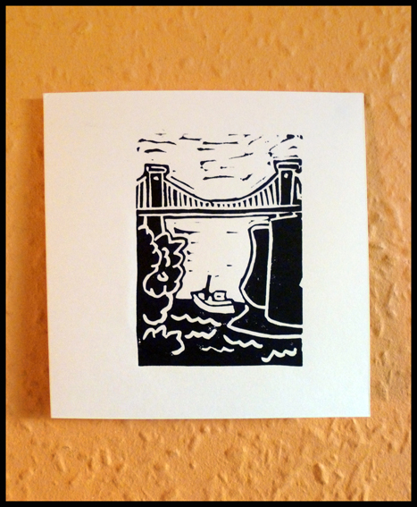 Bristol Hand Printed Card by Melanie Wickham - Southbank Arts Trail