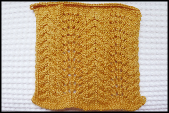 Fyberspates 'Rural Charm' Autumn Gold Pattern Swatch