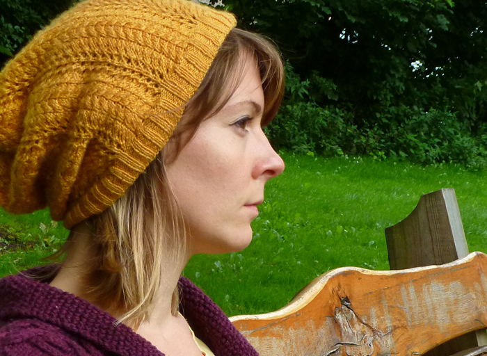 Autumn Gold Lace Slouch Hat