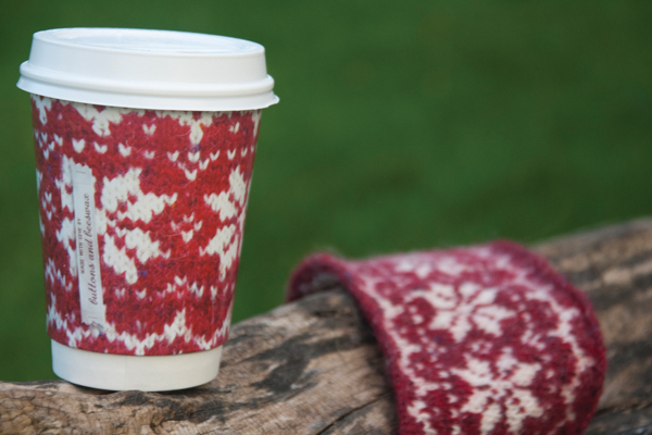 Buttons and Beeswax Knitted Coffee Cup