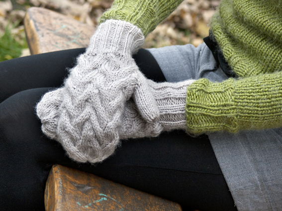 Knitting Pattern For Mittens Using Two Needles : Constantine Chunky Mittens Knitting Pattern